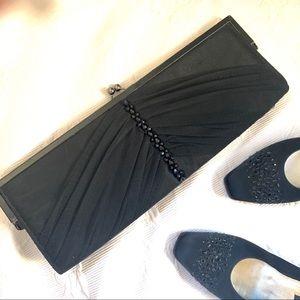 Nina Retro Style Long Envelope Clutch